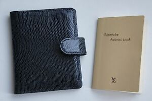Louis Vuitton Lizard Leather Mini Agenda Organizer Planner