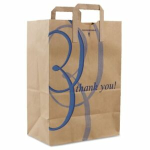 Duro Bag Brown Paper thank You Shopping Bags With Handles Dro41265