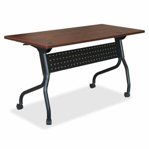 Lorell Cherry Flip Top Training Table Llr59515