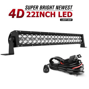 22inch 280w Led Light Bar Spot Flood Combo Wiring Work Driving Ute Suv 4wd 24