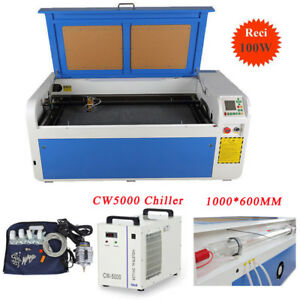 Dsp System 1000x600mm Reci 100w Co2 Laser Cutting Engraver Machine Cw5000 Chille
