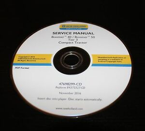 New Holland Boomer 40 50 Tier3 Compact Tractor Service Manual