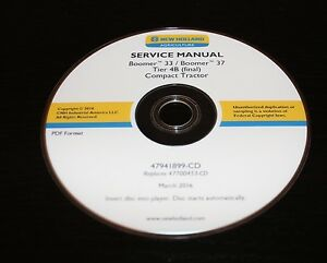 New Holland Boomer 33 37 Tier 4b Compact Tractor Service Manual