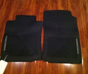 2005 2011 Toyota Tacoma All Weather New Oem 2 Piece Front Rubber Floor Mats