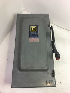 Square D Series D2 Heavy Duty Safety Switch 60 Amps 600v A c 250v D C Hu362