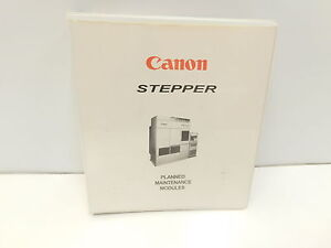 Canon Stepper Planned Maintenance Modules Reference Manual p20 2700