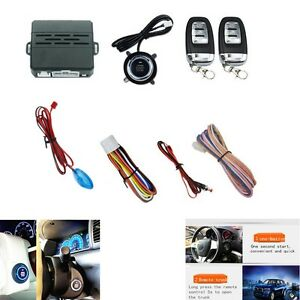 Car Alarm System Security Ignition Engine Start Push Button Remote New