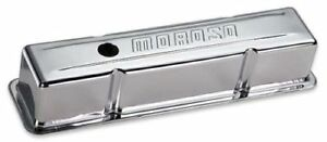 Moroso 68103 Small Block Chevy Tall Chrome Baffled Valve Covers