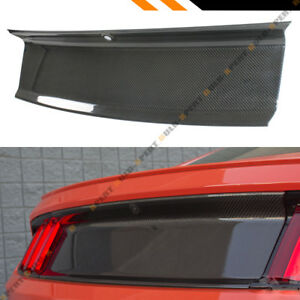 For 2015 2019 Ford Mustang Carbon Fiber Trunk Panel Decklid Trim Cover Overlay