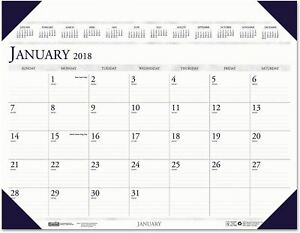 House Of Doolittle Executive Monthly Desk Pad Calendar 24 X 19 2018