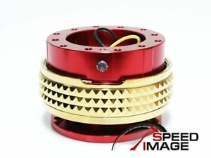 Nrg Steering Wheel Gen 2 1 Quick Release Red Body Gold Ring Srk 210rd cg