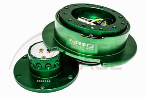 Nrg Steering Wheel Gen 2 5 Quick Release Green Body Green Ring Srk 250gn Flare