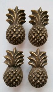 4 Pieces Solid Brass Tropical Pineapple Cabinet Drawer Handle Knob Pulls K17