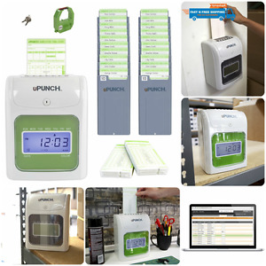Employees Card Time Clock Work Payroll Machine Punch In System Electronic Office