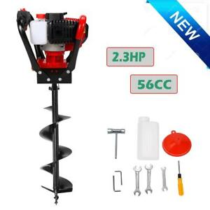 One Man 52cc Gas Powered Post Hole Digger Earth Soil Power Engine W 12 Drill