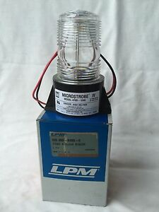 Tomar Strobe Light Fork Lift Lpm Microstrobe Iv Clear Made In Usa