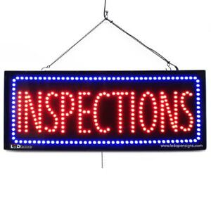 High Quality Large Led Open Signs Inspections 13 x32 Led Factory 2569