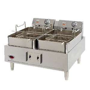 Wells F 30 Electric Dual Fry Pot Countertop Fryer W 15 Lb Capacity