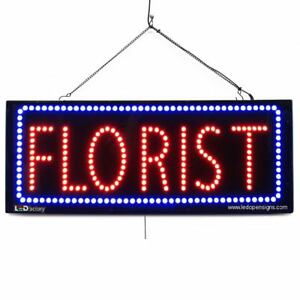 High Quality Large Led Open Signs Florist 13 x32 Led Factory 2603