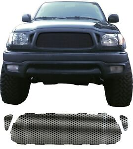 Ccg Gloss Black Perf Ss Precut Mesh Grill Set For A 2001 04 Toyota Tacoma Grille