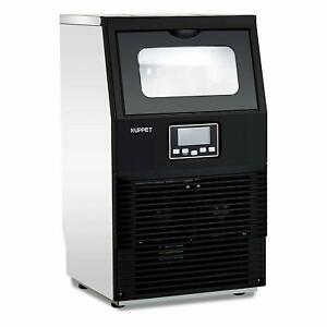 88lbs Built in Commercial Ice Maker Machine Ice Cube Stainless Steel Bar Home