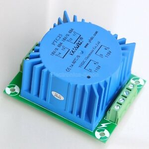 1pcs Toroidal Power Transformer 25va Output 2x18v Input 115v Or 230v