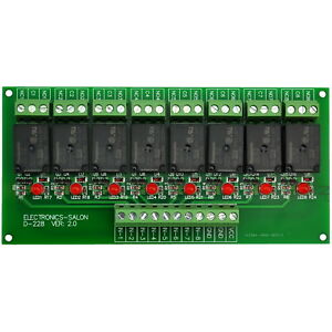 8 Channel 10amp Spdt Power Relay Module Board Dc5v Version Sku Md d228 5v 1