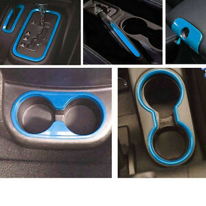 6pcs Light Blue Interior Decoration Cover Trim For Jeep Wrangler 2011 2017 s