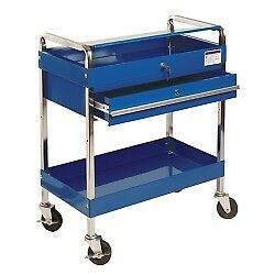 Sunex Tools 8013abl Service Cart With Locking Top And Drawer Blue