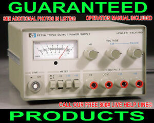 Agilent Hp 6235a Triple Output Variable Regulated Metered Dc Bench Power Supply