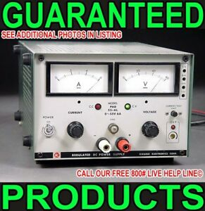 Kikusui Pad 55 6l 0 55v 48v Regulated Variable Metered Telcom Dc Power Supply