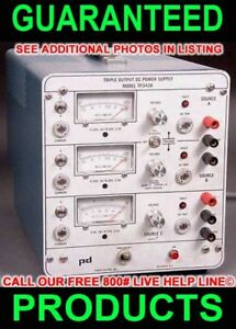 Power Designs Tp343a Triple 3 Output Variable Regulated Metered Dc Power Supply