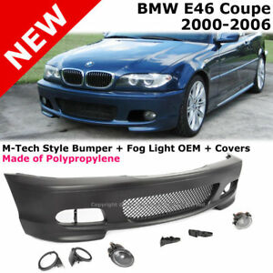 E46 Coupe 2000 2006 M tech Ii Performance Front Bumper Cover Fog Fluted Clear