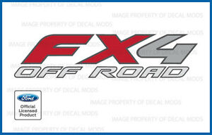 Set Of 2 Ford F350 F450 Fx4 Off Road Decals Stickers Dually Only Bed Side Df
