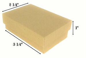 Wholesale 1000 Kraft Cotton Filled Jewelry Gift Box 3 1 4 X 2 1 4