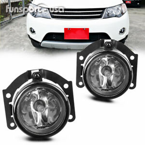 Pair Front Bumper Fog Lights Lamps For 07 15 Mitsubishi Outlander Sport Asx Rvr