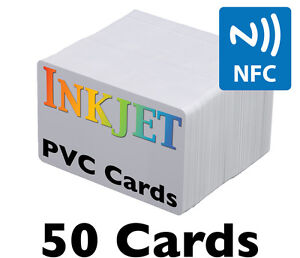 50 Inkjet Pvc Cards W Ntag215 Nfc Chip For Epson Canon Printers