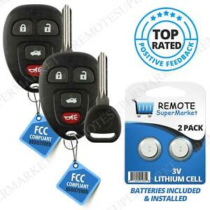 2 Replacement For Chevy 2005 2010 Cobalt 2004 2012 Malibu Remote Key Fob Set