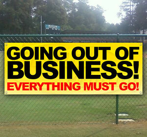 Going Out Of Business Advertising Vinyl Banner Sign Large Sizes Business Signs