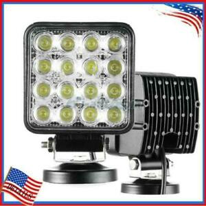 1pcs 48w 12v 24v Spot Lamp Led Work Light Boat Tractor Truck Offroad Suv Ute 4wd