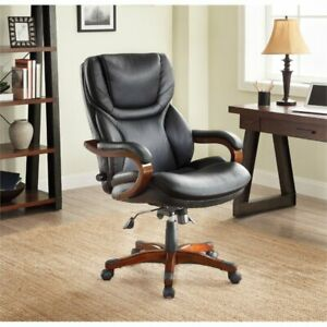Serta At Home Executive Office Chair In Black