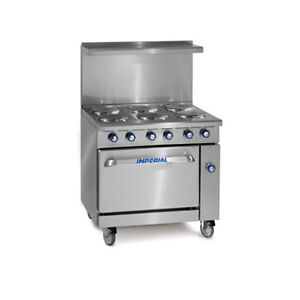 Imperial Ir 6 e 36 Electric Restaurant Range With Six Round Elements