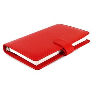 red Filofax Domino Organiser Pocket Red Unbranded Free Shipping