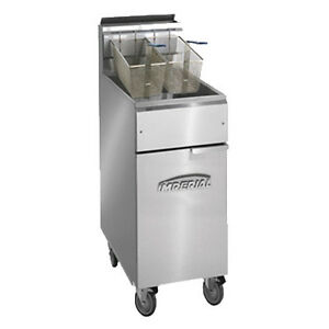 Imperial Ifs 40 op Full Open Pot Gas Fryer 40 Lb Capacity