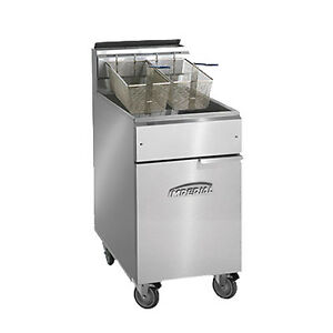Imperial Ifs 75 op Full Open Pot Gas Fryer 75 Lb Capacity