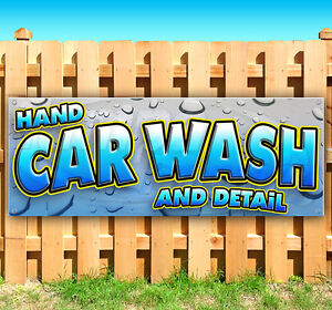 Hand Car Wash And Detail Advertising Vinyl Banner Flag Sign Usa 15 18 20 30
