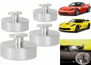 4 Pack Billet Aluminum Jacking Pucks For 2005 2017 Corvette C6 C7 New Free Ship