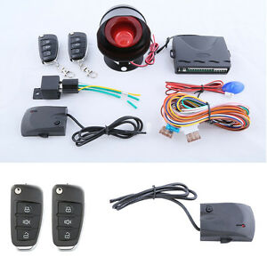 Car Anti theft Device Alarm System With Flip Key Remote Control Security Alert