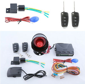 Car Auto One Way Anti Theft Device Alarm System Central Door Locking Automation