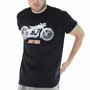Just Ride Vintage Motorcycle T Shirt Biker Retro Bmw Motorbike Tshirt Black Bf11
